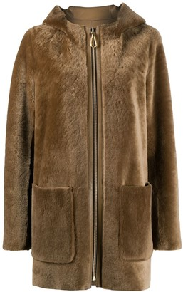 Sandro Hooded Coat