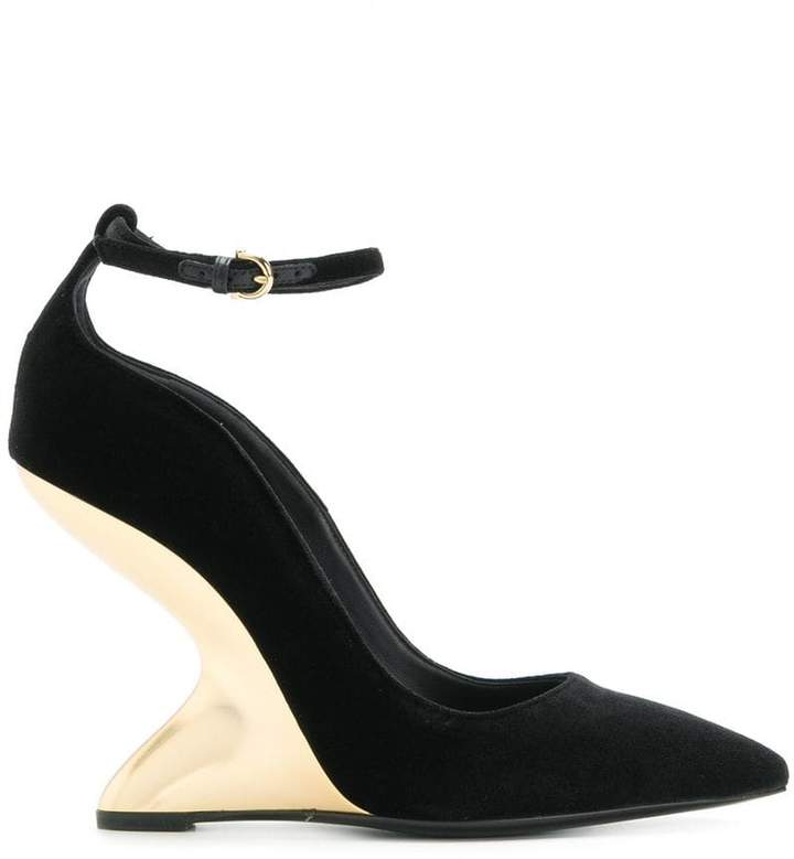 Salvatore Ferragamo sculpted heel pumps