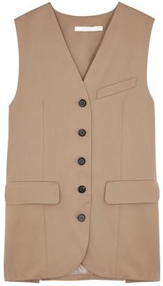 Low Classic Camel Wool Vest