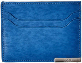 Tod's Metal Plate Leather Card Case