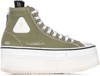 R 13 Platform High-Top Sneakers