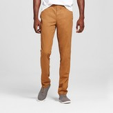 Merona Men's Flannel Lined Chino Pants Chestnut Brown