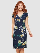 Joe Browns Evening Florals Dress - Navy Multi