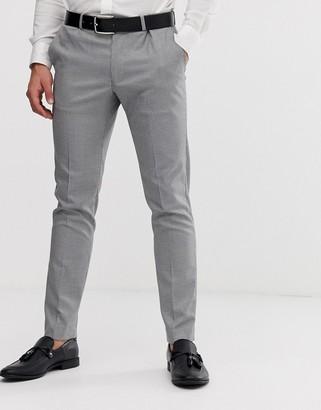 Burton Menswear suit trousers in black puppytooth