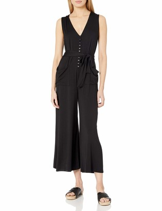 Rachel Pally Women's Casual Jumpsuit with French Buttons and self tie