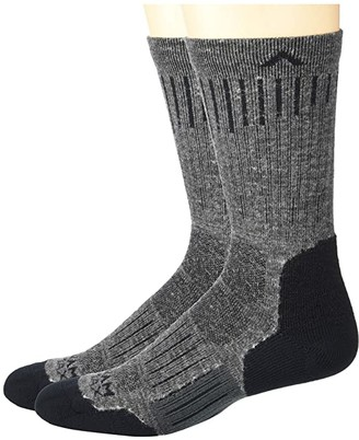 Wigwam Powerhouse 2-Pack (Charcoal II) Crew Cut Socks Shoes