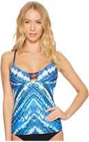 Lucky Brand High Tides Tankini Top Women's Swimwear