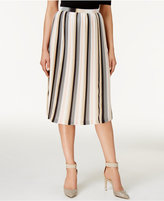 Calvin Klein Printed Pleated A-Line Skirt