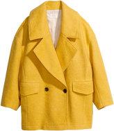 H&M Boxy Coat - Yellow - Ladies