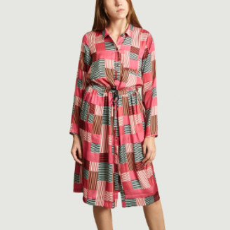 Heimstone Multicolor Polyester Edison Printed Dress - polyester   Multicolor   36
