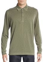 Saks Fifth Avenue Knit Long-Sleeve Polo Shirt