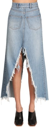 Givenchy Cotton Denim Long Skirt