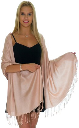 Shineglitz Pashmina Shawls and Wraps for Evening Dresses Large Soft Pashminas Wedding Shawl - - One Size