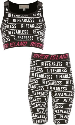 River Island Girls RI Active Black 'fearless' outfit