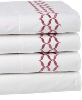Dea Italian Linens Virgina Embroidered Sheet Set