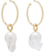 Nadia Shelbaya - 216 Perle Savage Pearl & Gold Hoop Earrings - Womens - Pearl