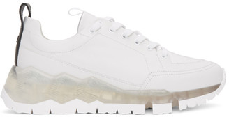 Pierre Hardy White and Transparent Street Life Sneakers