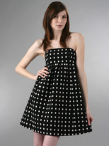 Window Pane Strapless Dress