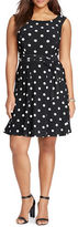 Lauren Ralph Lauren Plus Polka Dot Printed Dress