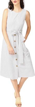 Court & Rowe Sleeveless Stretch Cotton Seersucker Dress