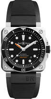 Bell & Ross Tissot BR0392 Diver satin-polished steel and rubber watch