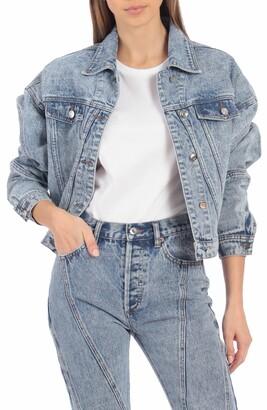 AVEC LES FILLES Oversize Denim Jacket