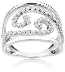 Summerrose Jewelry Summer Rose 14k White Gold 1/2ct TDW Split-Shank Swirl Diamond Ring