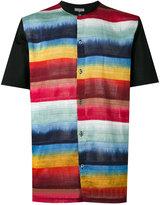 Lanvin contrast stripe shirt