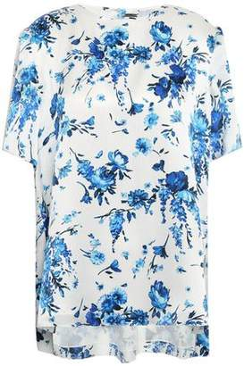 ADAM by Adam Lippes Floral-print Hammered-silk Blouse