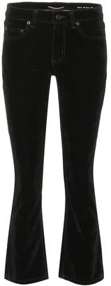 Saint Laurent Cropped velvet bootcut jeans