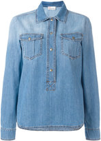 RED Valentino boxy fitting collared shirt - women - Cotton/Polyester - 40