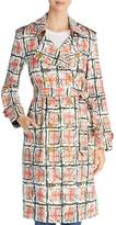 Burberry Briston Scribble Check Trench Coat