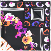 Givenchy night pansy logo print scarf