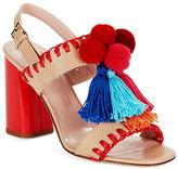 Kate Spade Central Fringe and Pom Heels