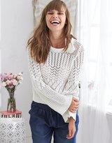 aerie Tassel Crew Sweater
