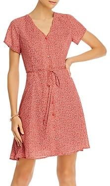 Aqua Dot Print Button Front Dress - 100% Exclusive