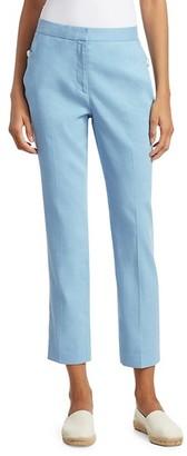 Rag & Bone Poppy Linen-Blend Crop Trousers