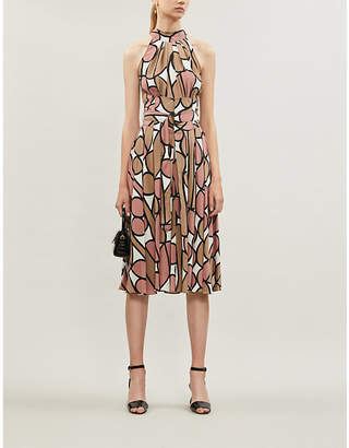 Diane von Furstenberg Hand-painted floral silk dress