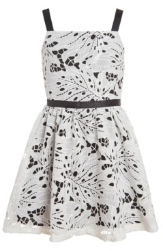 Calvin Klein Big Girls Eyelet Sleeveless Dress
