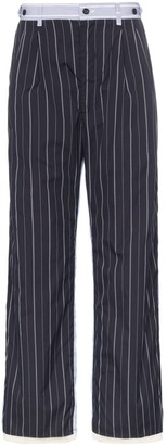 Children Of The Discordance Pinstripe straight-leg trousers