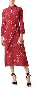 Hobbs London Margot Floral Silk Midi Dress