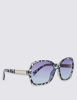 M&S Collection Bling Arm Oversized Sunglasses