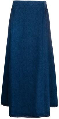 MM6 MAISON MARGIELA long A-line denim skirt