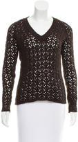 Dolce & Gabbana Open Knit V-Neck Sweater