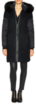 Everly Down Hooded Coat with Fur Trim
