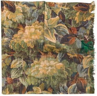 Pierre Louis Mascia Floral-Print Silk Scarf