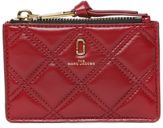 Marc Jacobs Softshot Berry Quilted Leather Wallet