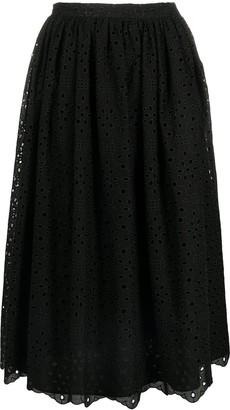 VIVETTA Broderie Anglais Midi Skirt