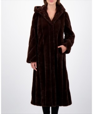 Jones New York Faux-Fur Maxi Coat