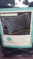 Martha Stewart Nwt Solid Diamond Stitch Standard Sham - Navy - White